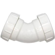 "Universal Drain PVC 45º Elbow - 1-1/2"""