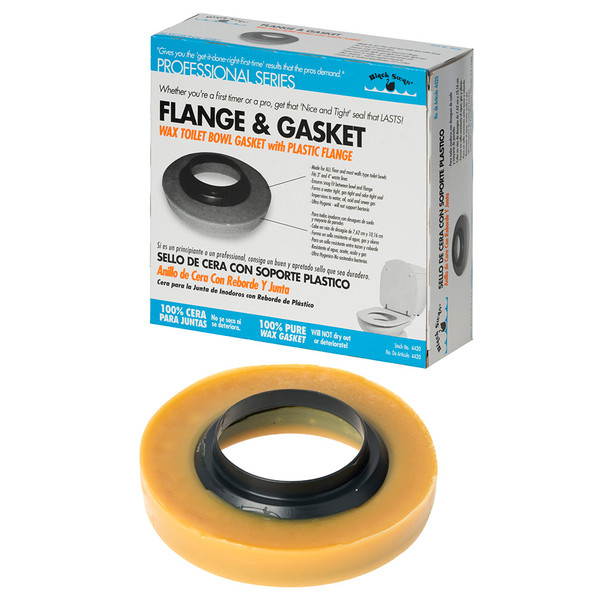 """Black Swan 1"""" Toilet Flange and Wax Gasket - For 3"""" & 4"""" Waste Lines"""
