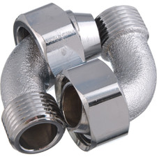 "Bath Coupling Ells - 1/2"" X 3/4"", Chrome"