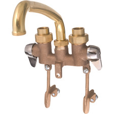 Union Brass Two Handle Laundry Faucet - Brass