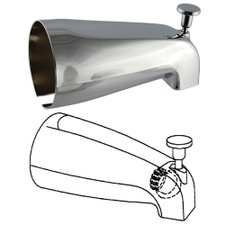 Universal Faucet Parts Diverter Tub Spout