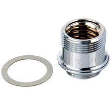 "Fisher RH Adapter Stem - 1/2"", Brass, Chrome Plated"