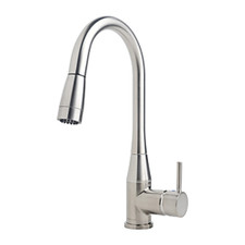 Symmons Sereno® Single Handle Kitchen Faucet - Stainless Steel