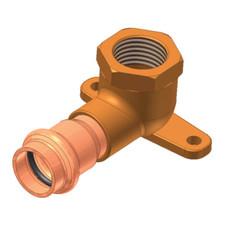 Copper Drop Ear 90° Elbow