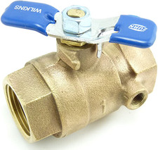 """Wilkins Tapped Ball Valve - 1"""""""