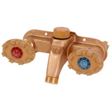 Woodford Hot & Cold Outdoor Wall Faucet - Rough Brass