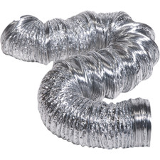 """Hart & Cooley Uninsulated Foil Flexible Duct - 7"""" x 25', Silver"""