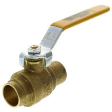 "Watts Straight Ball Valve - 2"", Full Port Sweat, Brass"