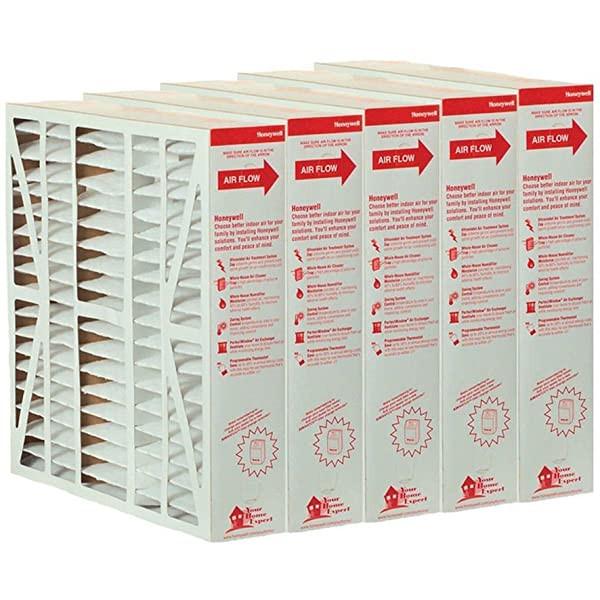 "Honeywell Pleated Media Furnace Filter - 20"" X 20"" X 5"" - 5-Pack"