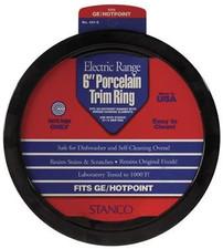 "Stanco Range Trim Ring - 6"", Porcelain"