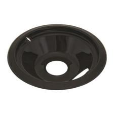 "Bubble Notched Drip Pan - 8"", Black"