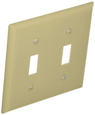 Wall Plate - 2 GANG Toggle Switch, White