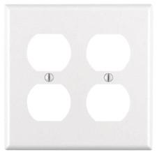 Duplex Wall Plate - 2 GANG, Almond
