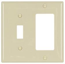 Toggle Wall Plate - 2 GANG, White