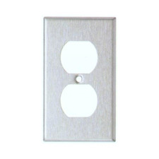 430 Stainless Steel Wall Plate Duplex 1 Gang Receptacle