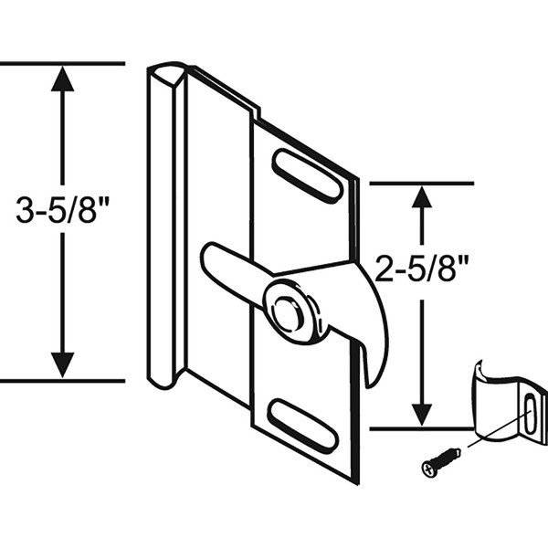"Patio Door Handle - Right Hand, 3-3/4"" x 2-3/4"""
