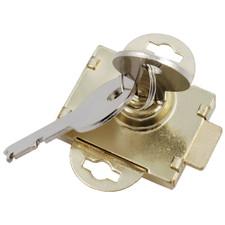"Prime Line Brass Mailbox Lock - 1/2"""