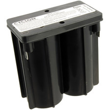 "Exit Light Battery - 4 Volt, 8 Amp, 3-11/16"" X 2-1/16"" X 3-15/16"""