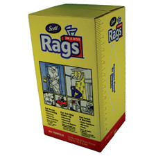 "Disposable Rags In A Box - 10"" X 12"", 200 Ct., White"