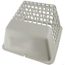 Deflect-O Dryer Vent Bird Guard - White