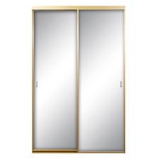 "Mirrored Satin Bypass Door - 48"" x 96"""
