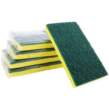Premiere Pads Green & Yellow Backed Scrubber Sponge - Medium Duty