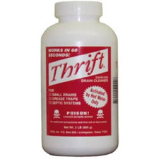 Thrift Alkaline Based Drain Cleaner - 2 Lb.