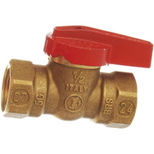 "JMF Brass Gas Ball Valve - 3/4"" FIP, 1/4 Turn"