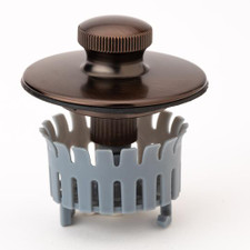 Drain Buddy Deluxe Bathtub Drain Stopper and Hair Catcher - Oil Rubbed Bronze